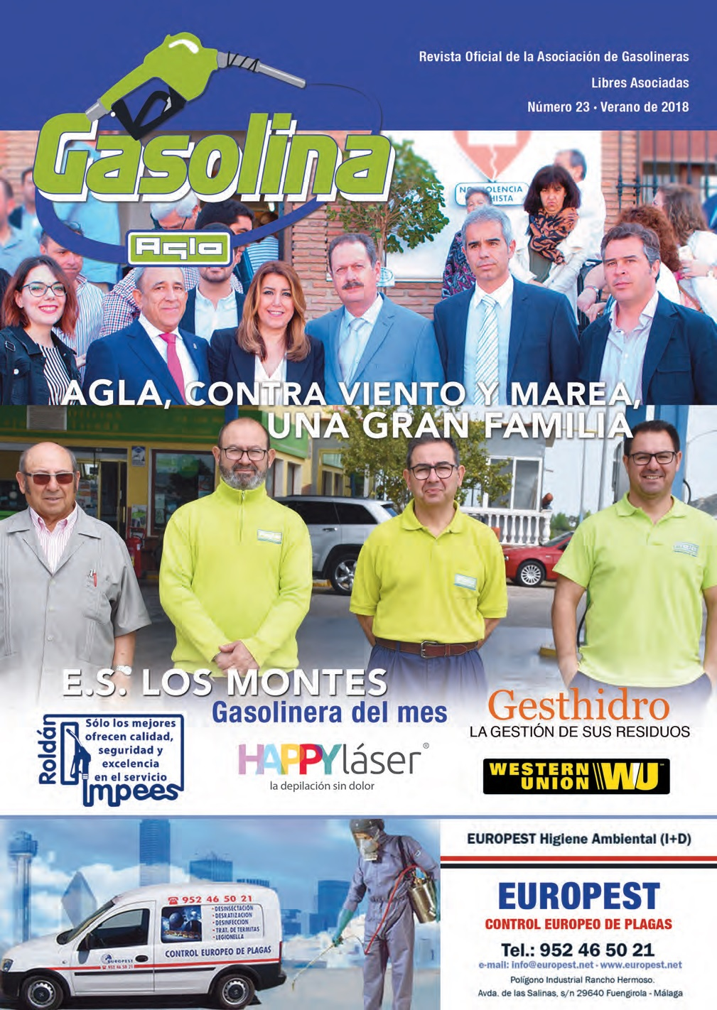 PORTADA REVISTA GASOLINA - JULIO 2018